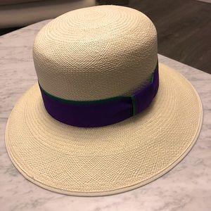 Wimbledon Women's Genuine Panama Straw Hat